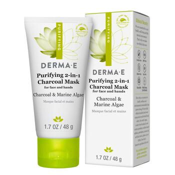 Derma E - Purifying 2-in-1 Charcoal Mask 48 gr. - 2si 1 arada Kömür Maskesi