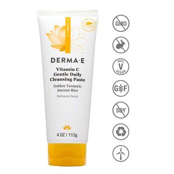 Derma E - Daily Gentle Cleansing Paste 113 gr. - C Vitaminli Temizleyici ve Maske