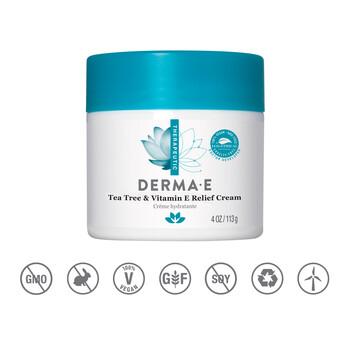 Derma E - Çay Ağacı & E Vitaminli Krem - 113 gr. Tea Tree & Vitamin E Relief Cream