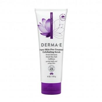 Derma E - Crepey Skin Pre-Treatment Exfoliating Scrub 170 gr. - Vücut Sıkılaştırıcı Peeling
