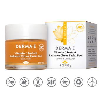 Derma E - Instant Radiance Citrus Facial Peel 56 gr. - C Vitaminli Siyah Nokta Giderici ve Aydınlatıcı Peeling