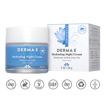 Derma E - Hydrating Night Cream 56 gr. - Kuru/Normal Ciltler için Gece Kremi