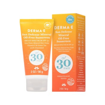 Derma E - Sun Defense Mineral Sunscreen SPF 30 Face - 56 gr.