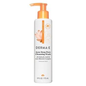 Derma E - Sivilceli Ciltler için Temizleyici - 175 mL. Acne Deep Pore Cleansing Wash