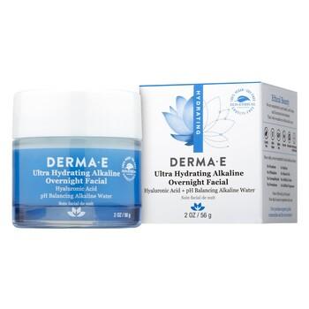 Derma E - Ultra Hydrating Alkaline Overnight Facial 30 mL. - Ultra Nemlendirici Alkali Gece Maskesi